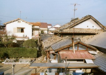 地震後の被害風景