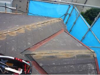 棟板金と貫板を全て撤去