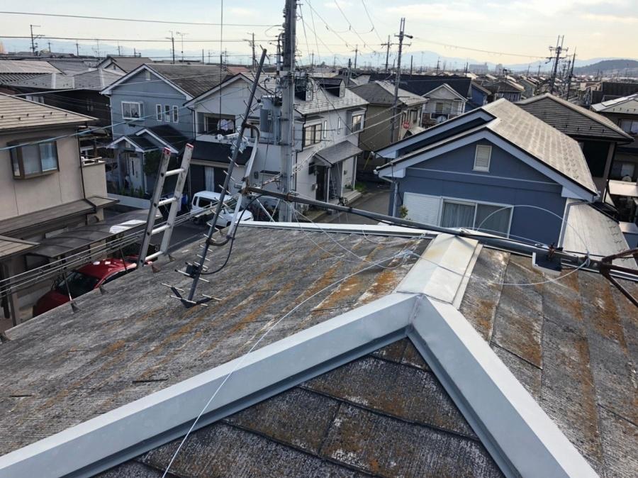 傷んだスレート屋根
