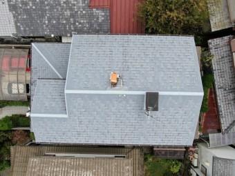 上空30mからの屋根写真