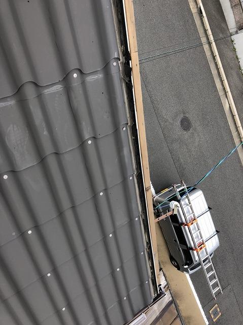 飛んでしまった板金屋根