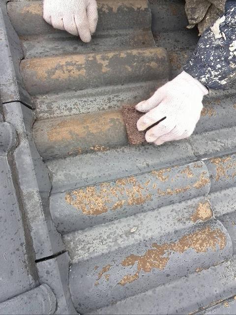 屋根劣化下地処理