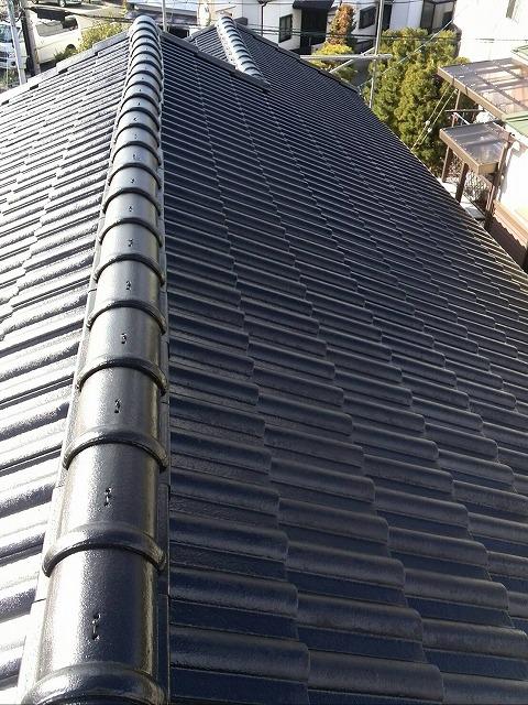 屋根遮熱塗装完了