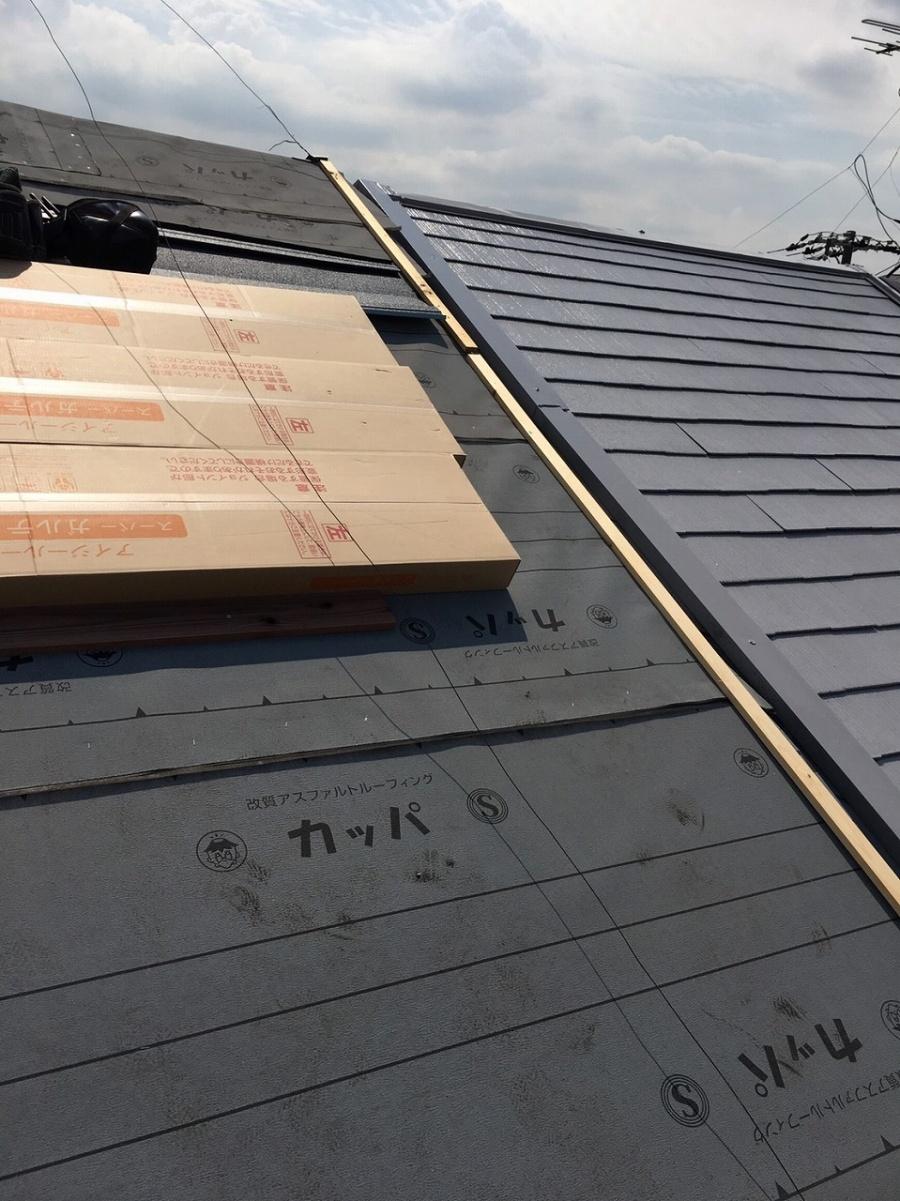 屋根本体貼り準備
