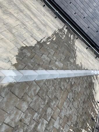 苔落としした屋根