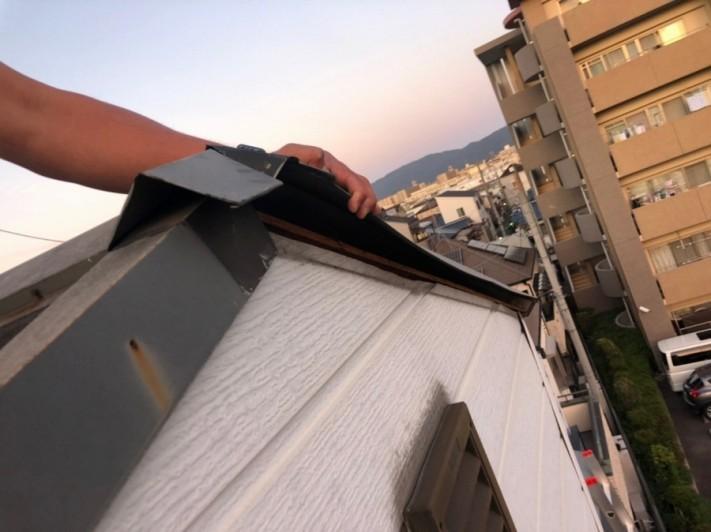 屋根に登っての写真