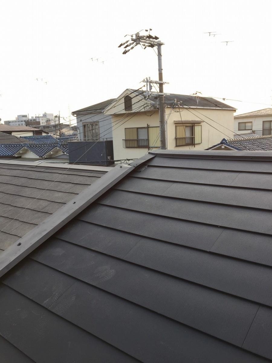 屋根完成写真