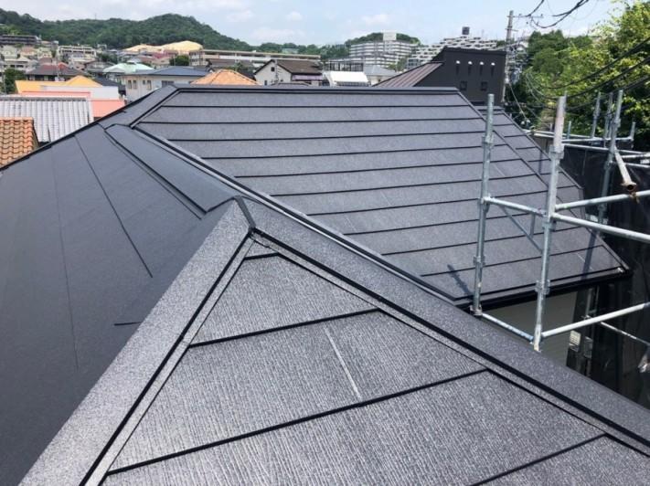 複雑な屋根完成
