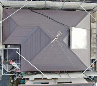 スーパーガルテクト仕上がった屋根