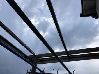 飛ばされたベランダテラス屋根