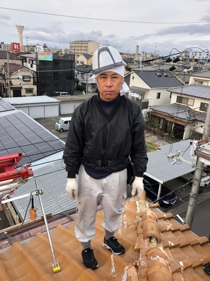 屋根の職人さん