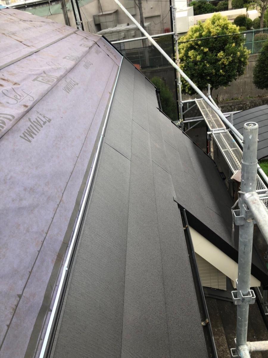 屋根本体貼り