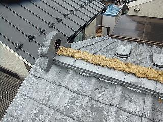 棟瓦の取り直し工事