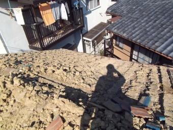 屋根めくり葺き土