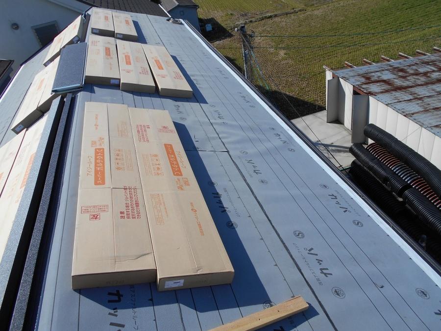 金属屋根貼り付け