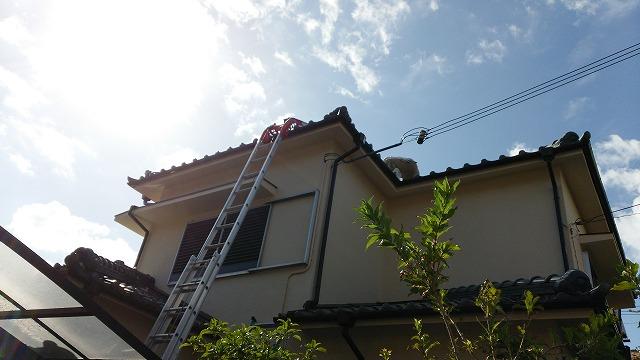 屋根葺き替え準備