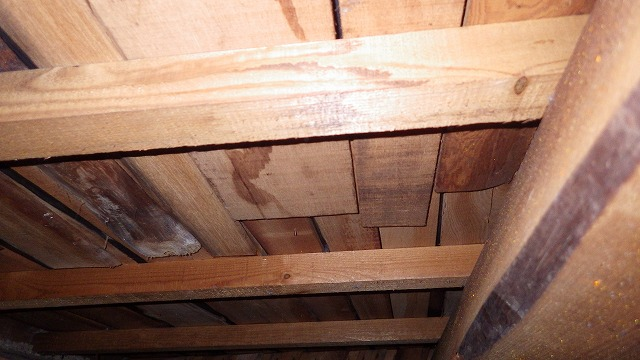 屋根と小屋裏の現場調査