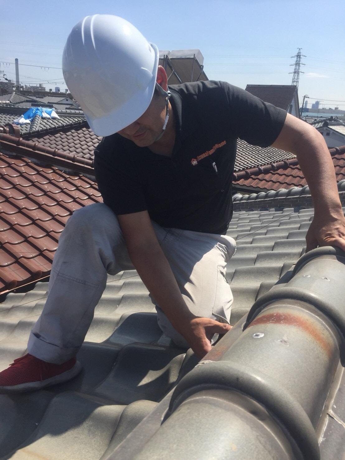 棟屋根調査