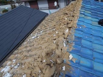 屋根土の撤去