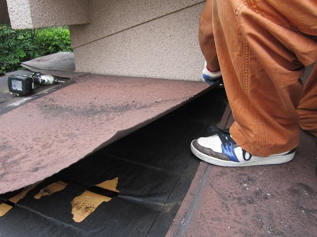 屋根板金めくり