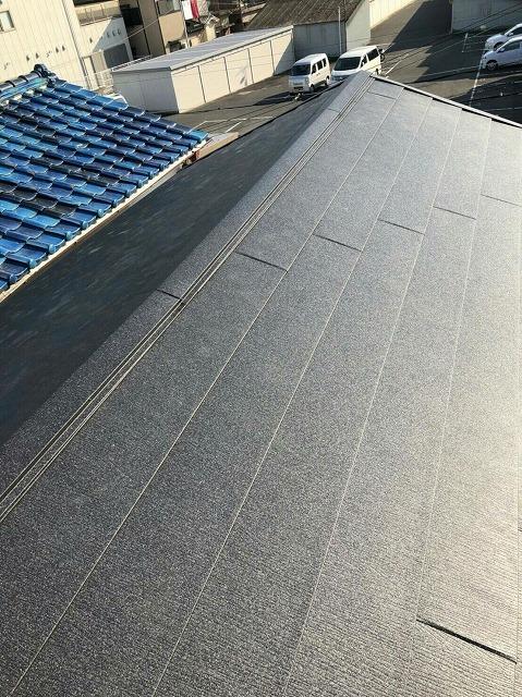 屋根の葺き替え施工