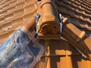 台風被害により屋根の現場調査