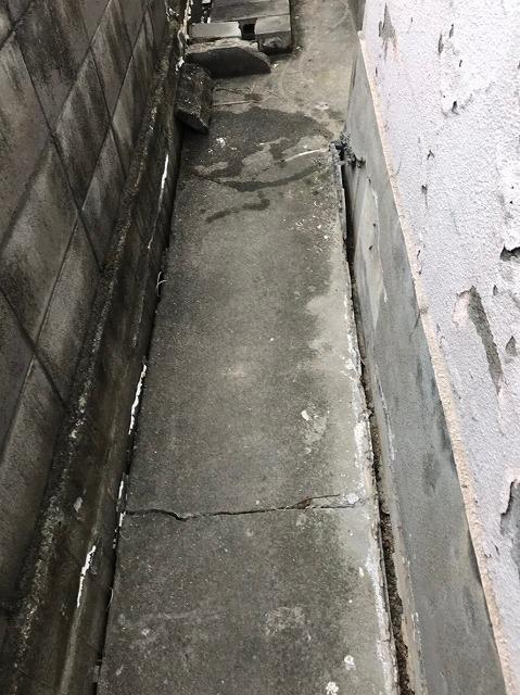 割れた土間コンクリート