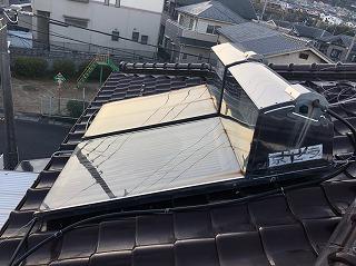 太陽温水器の水漏れ