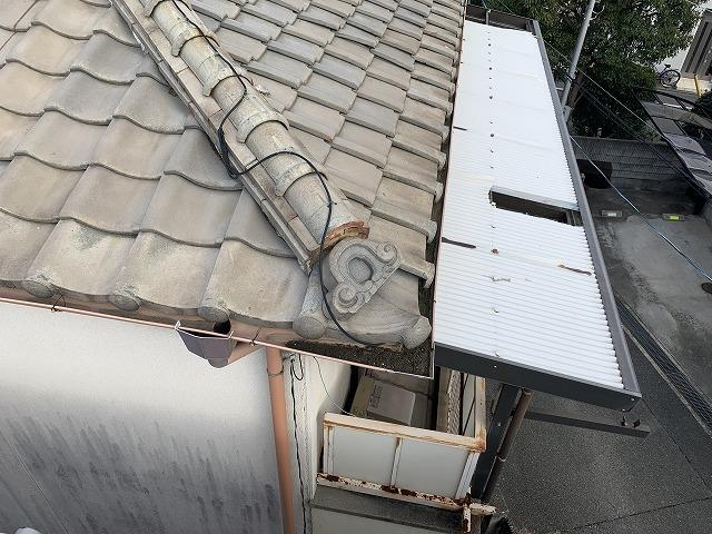 屋根、鬼瓦