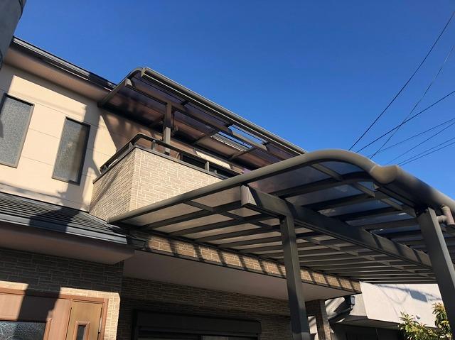 テラス屋根飛散