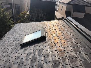天窓の設置の屋根