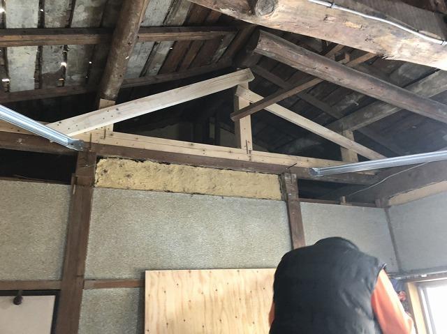 小屋裏木材補強