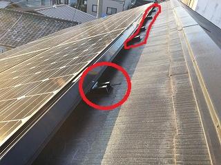 太陽光パネル設置の屋根