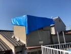 雨漏れの補修作業