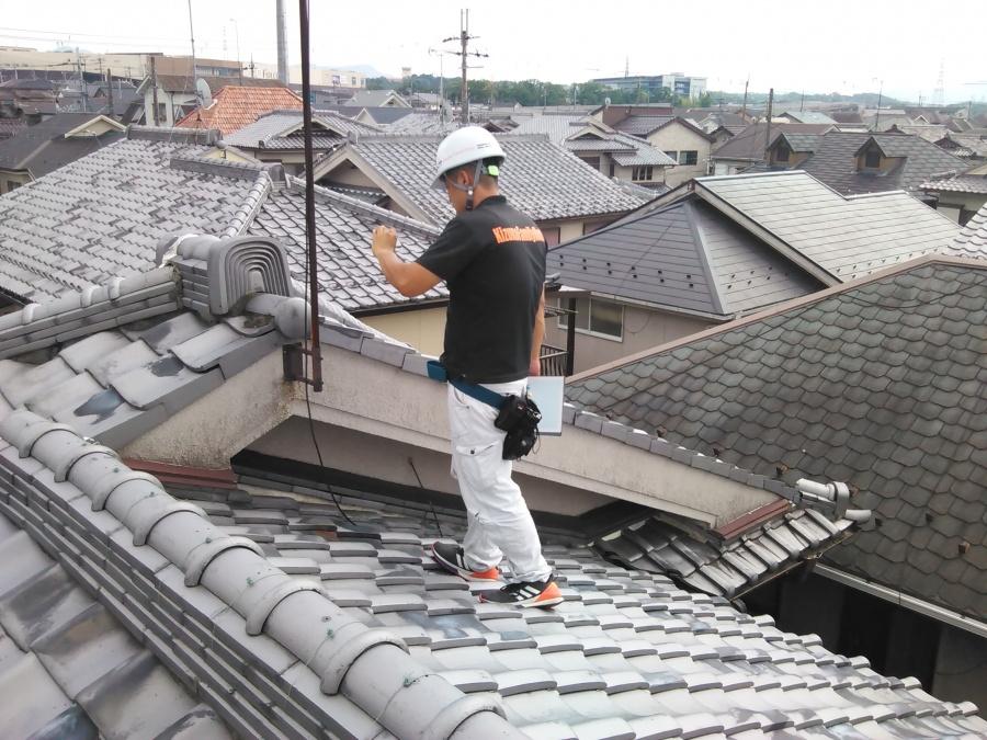 雨漏り点検依頼!築40年以上の瓦屋根雨漏りが起こりやすい箇所