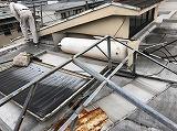 太陽温水器の撤去