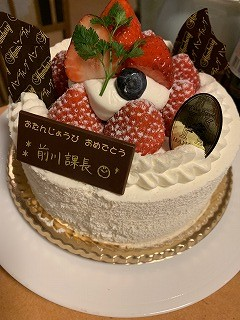 前川君ケーキ