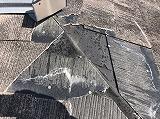 スレ-ト屋根の剝がれ