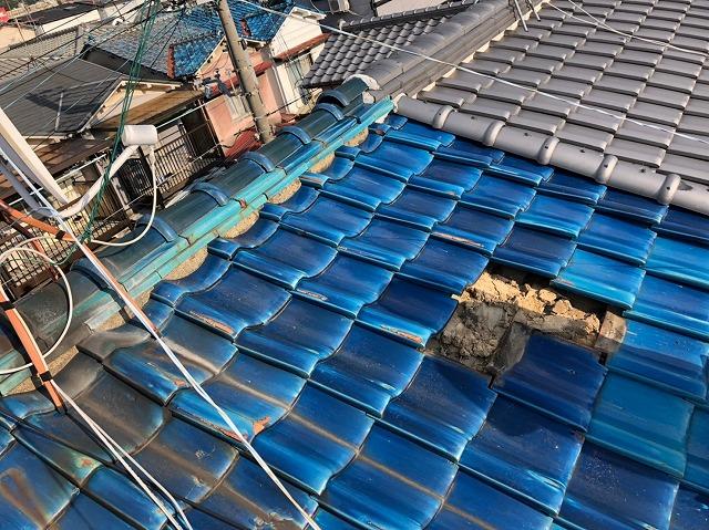 屋根瓦の劣化