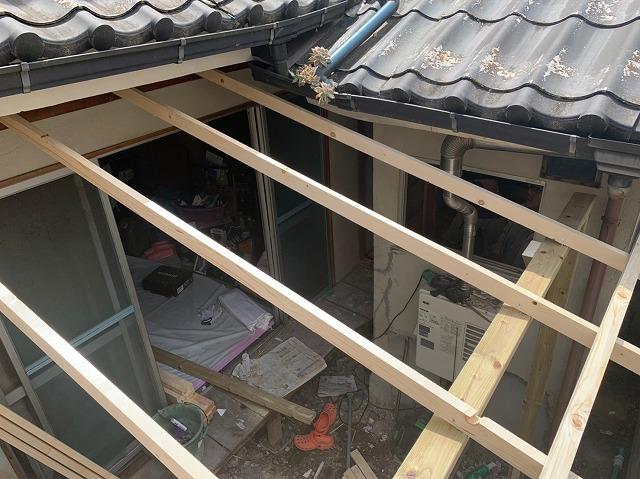 木テラス組み