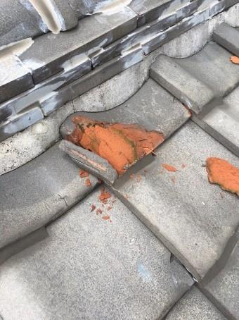 屋根瓦の破損