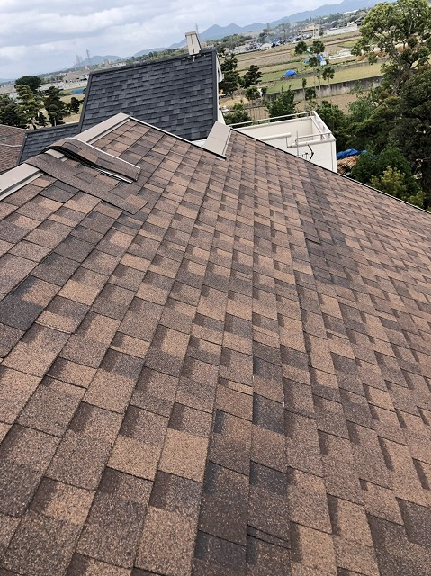 シングル屋根補修