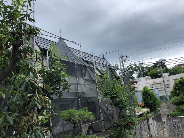 台風の為の養生めくり