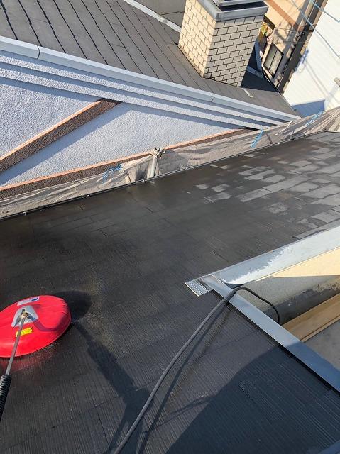 スレート瓦屋根高圧洗浄