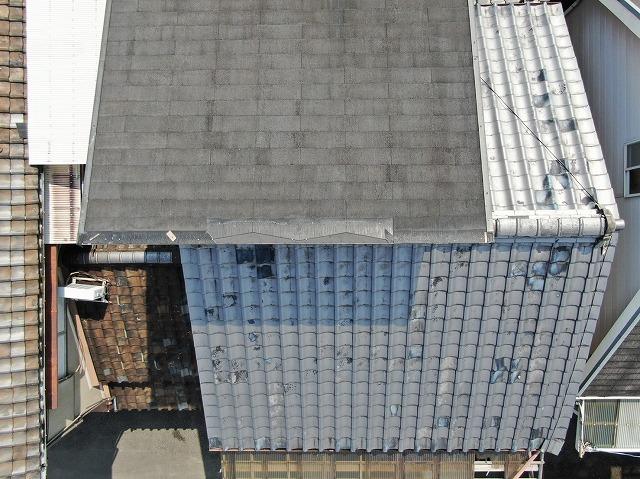 屋根航空写真