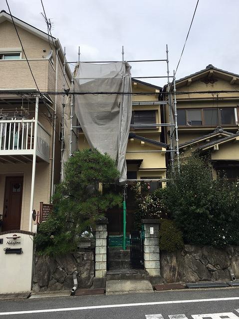 大津市瀬田で大きなひび割れが起きた外壁の補修工事と塗装工事