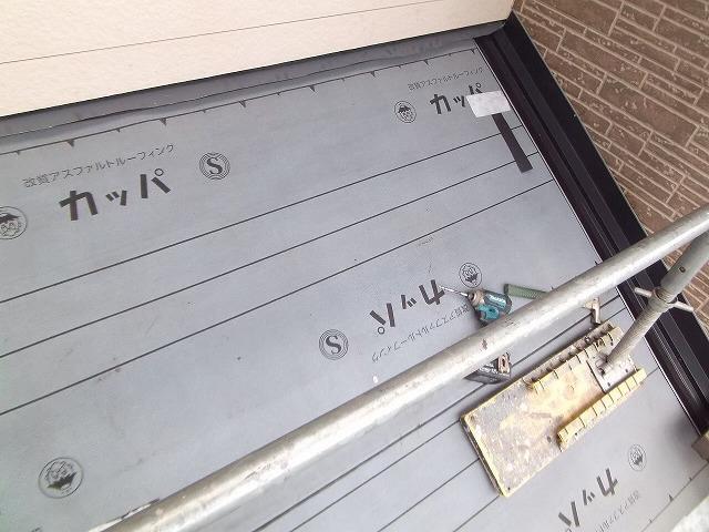 下屋根の屋根カバー工法