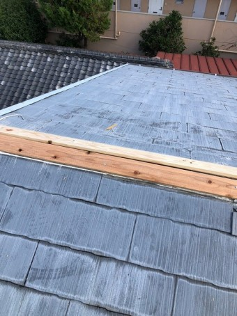 新しい貫板取り付け後