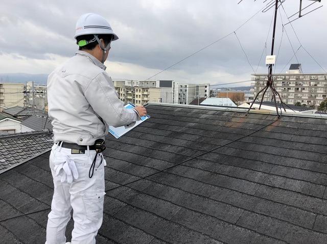 屋根調査風景