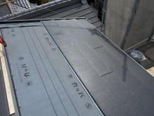 ガルテクト屋根張りつけ